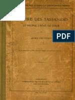 Arthur Christensen / L'empire Des Sassanides Le Peuple, LÉtat, La Cour 1907