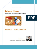 Inbox Hero - Successful Email Writing in English MODULE 01