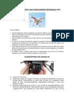 Cuadricoptero Con Videocámara Integrada Fpv