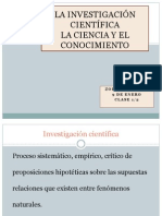 La Investigacion Cientifica- 9-1-14