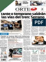 Periódico Norte de Ciudad Juárez edición impresa del 2 mayo del 2014