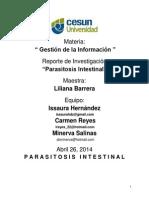 Proyecto de Investigacion Parasitosis intestinal