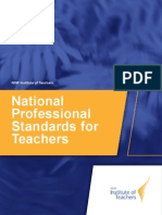 national professional standards for teachers sep 2012