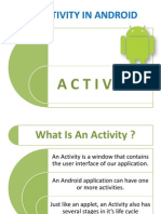 An ACTIVITY in android ( ANDROID APP DEVELOPMENT BY PRESENTATION )