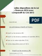 Les Nouvelles Dispositions Avec Comparatif Du CGI 2013