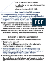 8. Selection of Concrete Composition