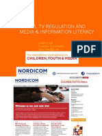 Ethics, TV regulation and Media and Information Literacy