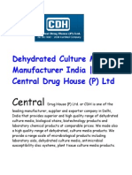 Dehydrated Culture Media – Used for Various Type Applications