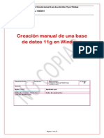 Oracle Creacion MANUAL de Una Base de Datos 11g en Windows