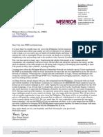 Letter of Msgr Spiegel to PMPI [March 28, 2014]