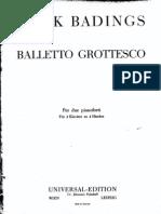 Badings - Balletto Grottesco for Two Pianos