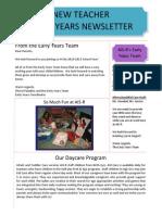 EY New Teacher Newsletter_2014-15