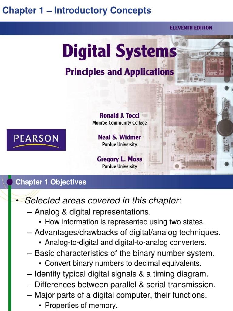 Digital Systems 11th edition ppt1 | Digital Signal | Digital Electronics