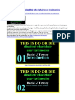 THIS IS DO OR DIE disabled wheelchair user testimonies