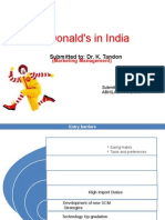 Mcdonalds in India A