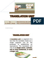 Translation Unit, By Dr. Shadia Yousef Banjar
