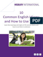 10 Common English Idioms and How to Use Them