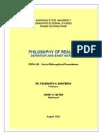 philosophyofrealismdefinationandbriefhistory-090801041030-phpapp01