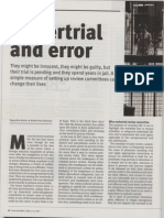 Undertrial and error