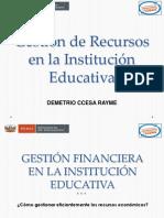 Gestión de Recursos Financieros en La Institución Educativa Ccesa