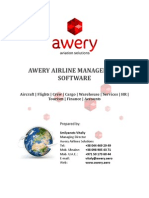 AWERY AIRLINE MANAGEMENT SOFTWARE