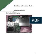 Laptop Parts Removal Procedure PartI
