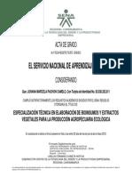 Acta Bioinsumos