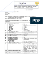 Failure Reports of Equipment -66 Kv ITC Make CT at 220 Kv Khanpur Sub Station