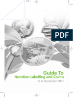 Guide Nutrition Label