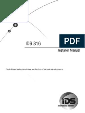ids816 user manual