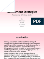 Assessment Strategies and Feedback Edited Version