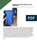 Drafting a Princess Line Dress Pattern From the Basic Bodice Block Original