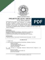Projeto de Lei Nº 944-B de 2011 - Autoria Nelso Padovani