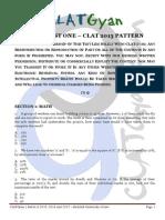 Test One - CLATGyan 2013