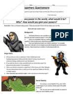 24 april 2014 superhero questionnaire