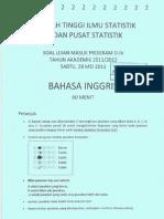 Soal USM STIS 2011-2012 Bahasa Inggris.pdf