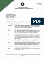 OK DOC Letter on Botched Execution of Clayton Lockett