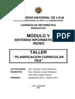Taller de Planificacion Curricular 2010