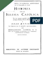 Historia de La Iglesia Catolica-LLorca-Tomo I