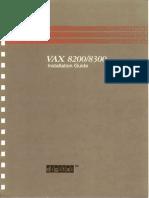 VAX 8200/8300 Installation Guide