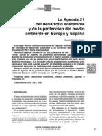 Agenda 21  impulsora del desarrollo sostenible  y de la protección del medio  ambiente en Europa y España