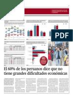 60% Peruanos No Tiene Grandes Dificultades Económicas_Gestión 02-05-2014