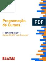 Programacao de Cursos 1º Sem. 2014 v06