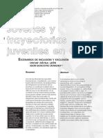 Jóvenes y Trayectorias Juveniles en Chile