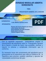 Presupuesto General de La Nacion.