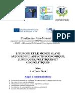 Appel à Communications Conference de Mai 2014