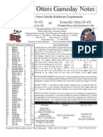 Evansville Otter Game Notes 9-5-13