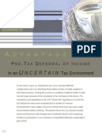 Advantages to Pre-Tax Deferral of Income in an Uncertain Tax Environment by Chris Nyland & Steve Broadbent.