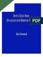 Bird nest analyis