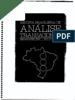 Bloco VI - Análise Transacional e o Direito